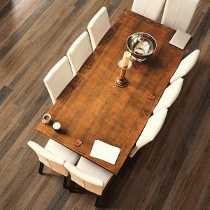 Dining table on Vinyl floor   Kirkland's Flooring