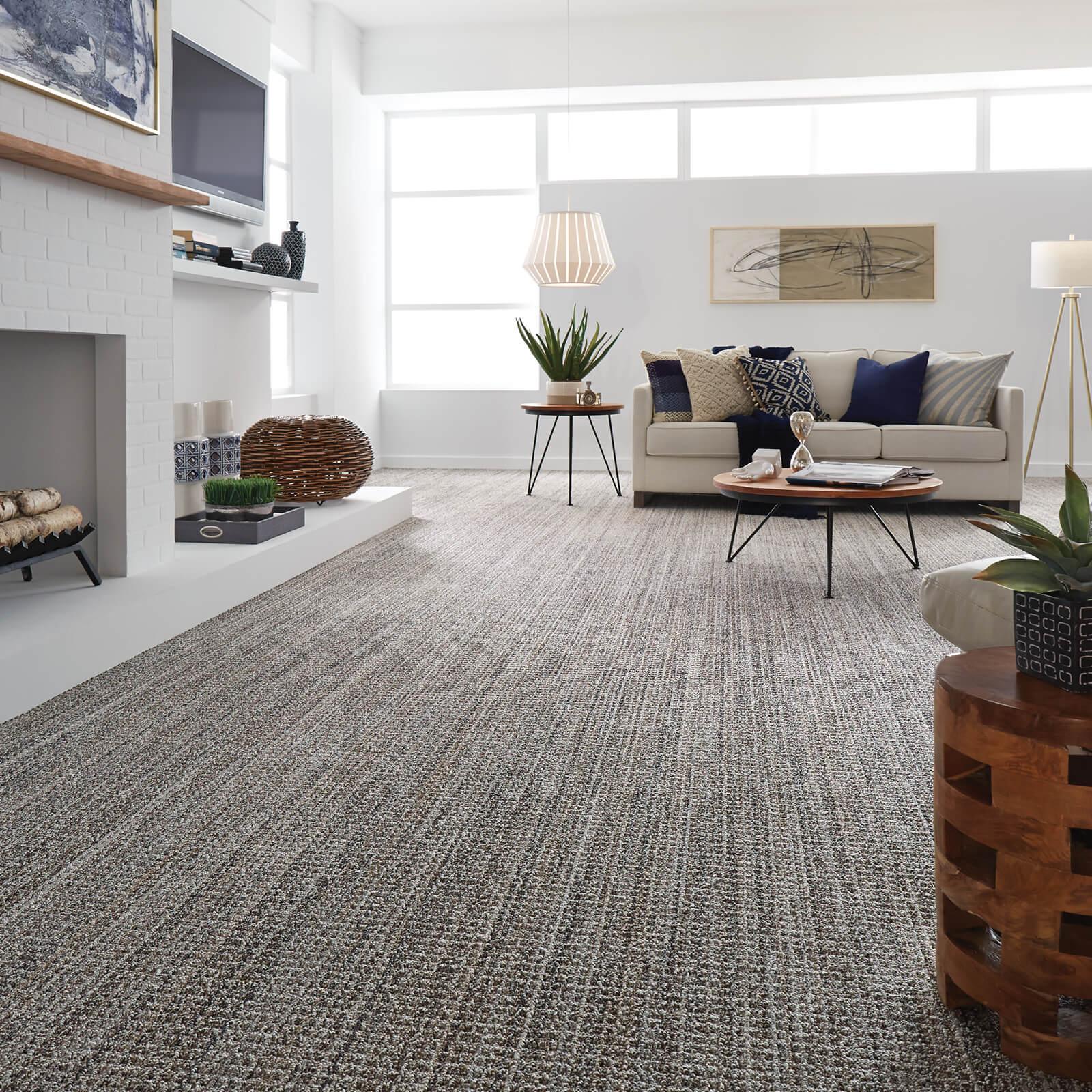 Spacious living room with Carpet flooring | Kirkland's Flooring
