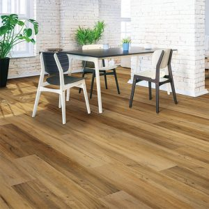 Table and chairs on Vinyl floor   Kirkland's Flooring