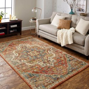 Area Rug in living room | Kirkland's Flooring
